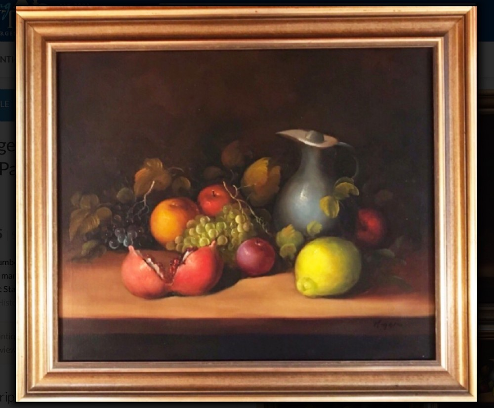 still life fruit oil painting on canvas