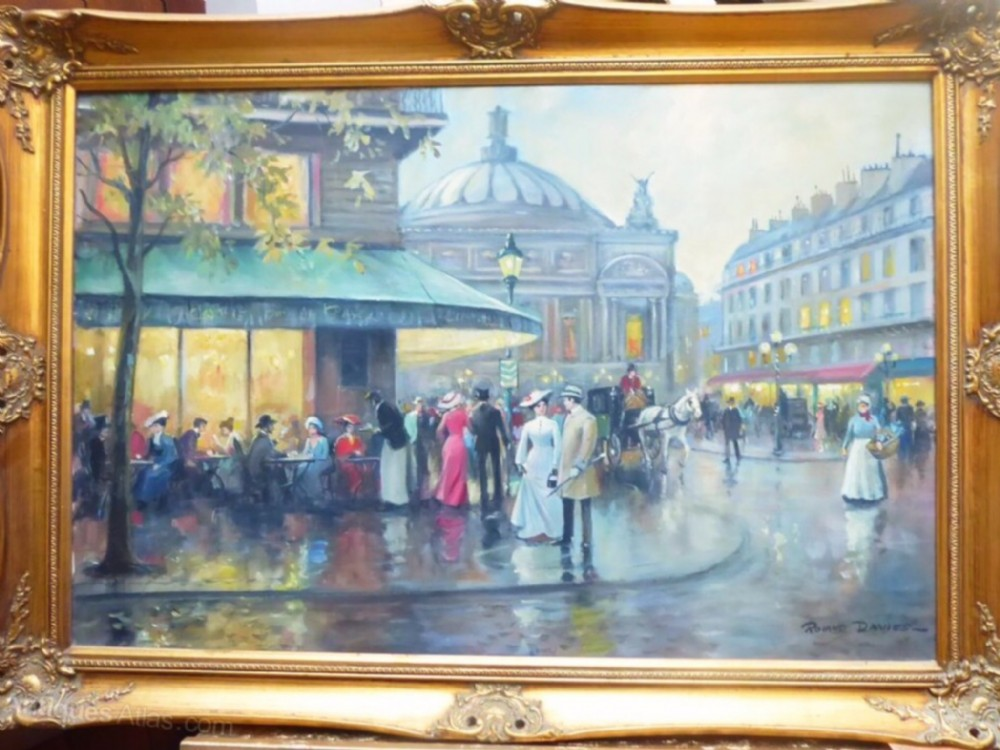 impressionist parisian oil painting by roland davies opera square latin quarter paris