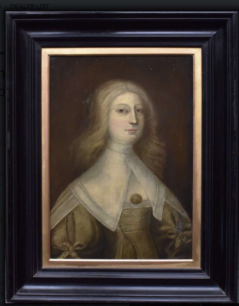 circa 1650 oil portrait painting on oak panel of a lady 17th century dutch golden age